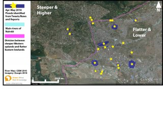Nairobi flood map april 2016