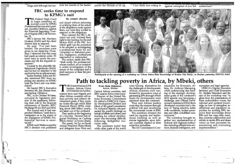 Urban ARK in the Media - Ibadan, The Nation Newspaper, 12.11.15